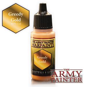 "The Army Painter Metallics Warpaints 18ml Greedy Gold ""Metallic Variant"" WP1132"