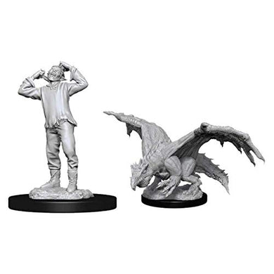 D&D Nolzur's Unpainted Miniatures: Wave 11: Green Dragon Wyrmling & Afflicted Elf