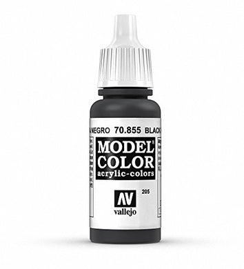 Vallejo Model Color Black Glaze Paint, 17ml