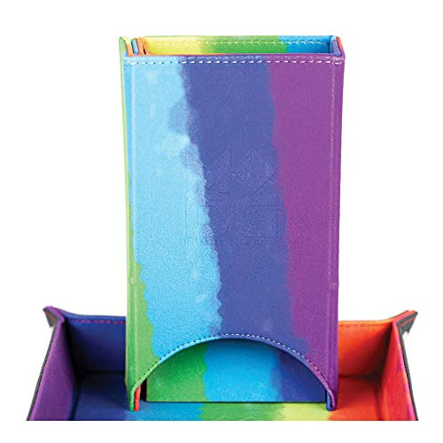 Velvet Fold Up Dice Tower - Rainbow