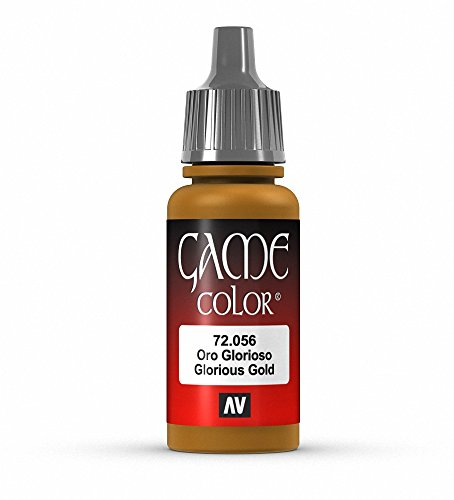 Vallejo Game Color Glorious Gold Paint, 17ml