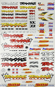 Traxxas 9950 Team Traxxas Decal Sheet