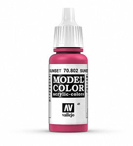 Vallejo Model Color Sunset Red Paint, 17ml