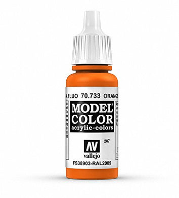 Vallejo Model Color Orange Fluorescent Paint, 17ml