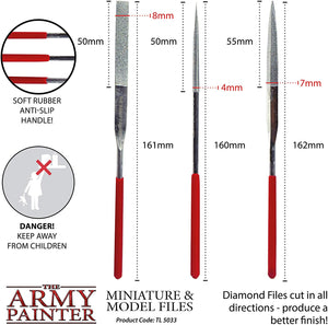 The Army Painter Miniature and Model Files Round File, Flat File, Triangular