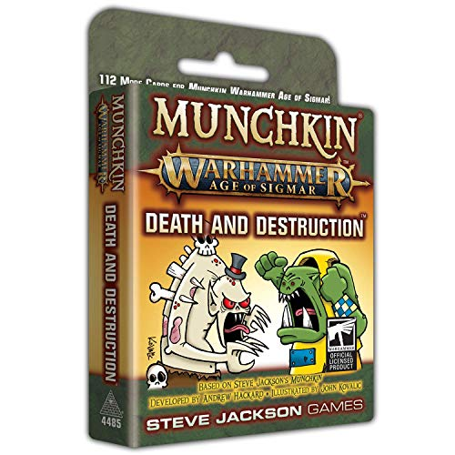 Munchkin Warhammer Age of Sigmar Death and Destruction 112 Cards