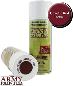 The Army Painter Chaotic Red Spray Color Primer 400ML for Miniature Painting