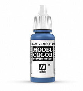 Vallejo Model Color Flat Blue Paint, 17ml