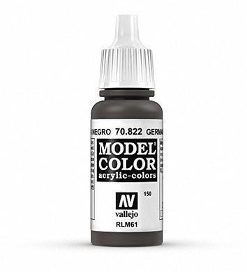 Vallejo Model Color German Camo Black Paint, 17ml