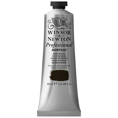 Winsor & Newton Professional Acrylic Color Paint, 60ml Tube, Mars Black