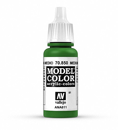 Vallejo Model Color Medium Olive Paint, 17ml