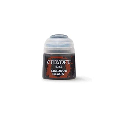 Games Workshop Citadel Base Paint Abaddon Black 12Ml