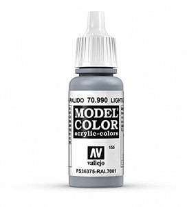Vallejo Light Grey Model Color Paint, 17ml