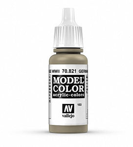 Vallejo Model Color German Camo Beige Paint, 17ml