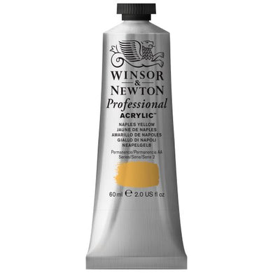 Winsor & Newton Professional Acrylic Color Paint, 60ml Tube, Naples Yellow