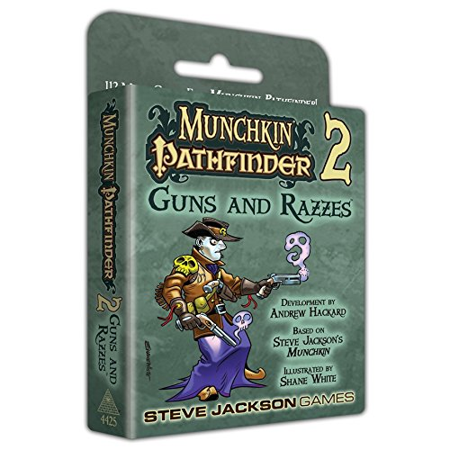 Steve Jackson Games Munchkin Pathfinder 2 Guns and Razzes Card Game