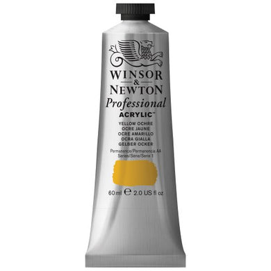 Winsor & Newton Professional Acrylic Color Paint, 60ml Tube, Yellow Ochre