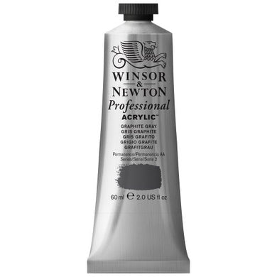 Winsor & Newton Professional Acrylic Color Paint, 60ml Tube, Graphite Grey