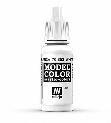 Vallejo Model Color White Glaze Paint, 17ml