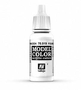 Vallejo Model Color Foundation White Paint, 17ml