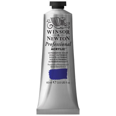Winsor & Newton Professional Acrylic Color Paint, 60ml Tube, Ultramarine Violet