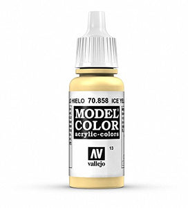 Vallejo Model Color Ice Yellow Paint, 70858 Yellow Varient 17ml