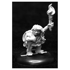 Reaper Dungeon Dwellers Gus Greenweevil, Halfling Henchman 07018 Unpainted Metal