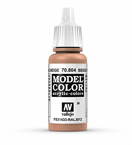 Vallejo Model Color Red Beige Paint, 17ml
