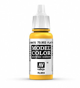 Vallejo Model Color Acrylic Paint, Flat Yellow
