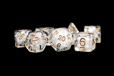 MDG Pearl Dice w/ Copper Numbers 16mm Resin Poly Dice Set