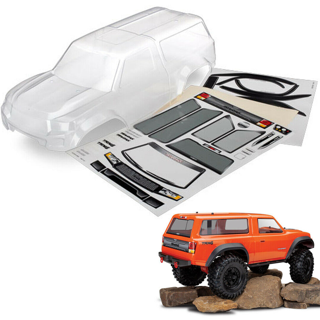 Traxxas 8112 TRX-4 Sport Body w/Camper Clear/Trimmed w/Window Masks/Decal Sheet