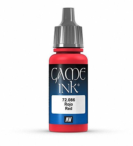 Vallejo Game Color Red Ink Paint, 17ml