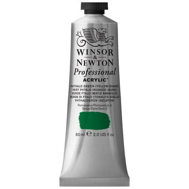 Winsor & Newton Professional Acrylic Color Paint, 60ml Tube, Phthalo Green Yellow Shade
