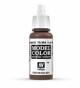 Vallejo Model Color Flat Brown Paint, 17ml