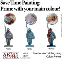 Load image into Gallery viewer, The Army Painter Color Primer, Wolf Grey, 400 ml, 13.5 oz - Acrylic Spray Undercoat for Miniature Painting
