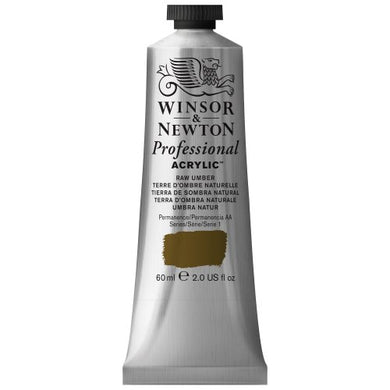 Winsor & Newton Professional Acrylic Color Paint, 60ml Tube, Raw Umber