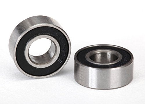 Traxxas 5180A Black Rubber Sealed Ball Bearings, 6x13x5mm (Pair) Vehicle