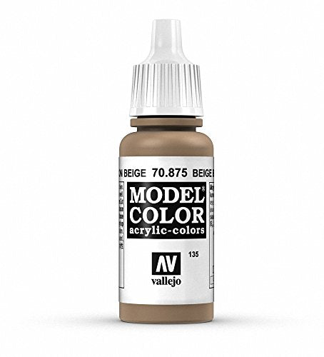 Vallejo Model Color Beige Brown Paint, 17ml