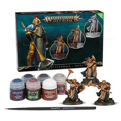 Games Workshop Warhammer Age of Sigmar: Stormcast Eternals + Paint Set