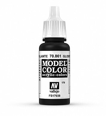 Vallejo Glossy Black Paint, 17ml