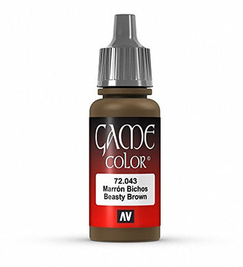Vallejo Game Color Beastly Brown Paint, 17ml