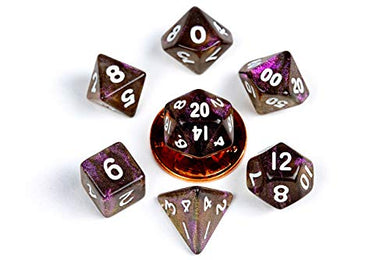 MDG Stardust Supervolcano 10mm Mini Poly Dice Set