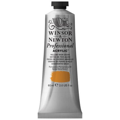 Winsor & Newton Professional Acrylic Color Paint, 60ml Tube, Yellow Iron Oxide