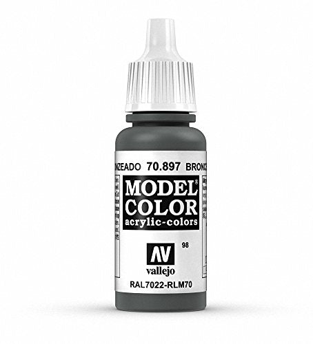 Vallejo Model Color Bronze Green Paint, 17ml
