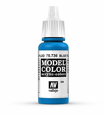 Vallejo Model Color Blue Fluorescent Paint, 17ml