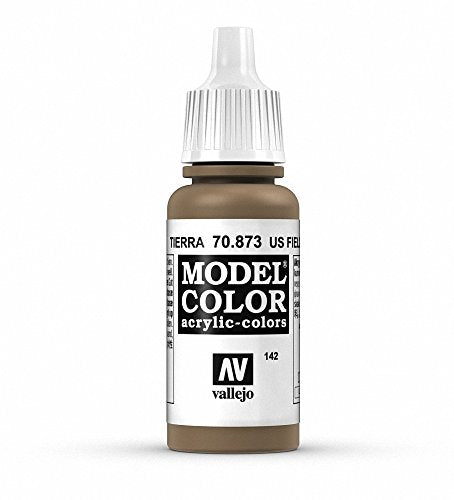 Vallejo Model Color US Field Drab Paint, 17ml