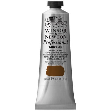 Winsor & Newton Professional Acrylic Color Paint, 60ml Tube, Burnt Umber