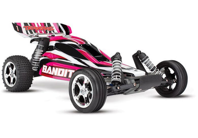 Traxxas Bandit: 1/10 Scale 2WD Off-Road Buggy with TQ 2.4ghz Radio System, Pink