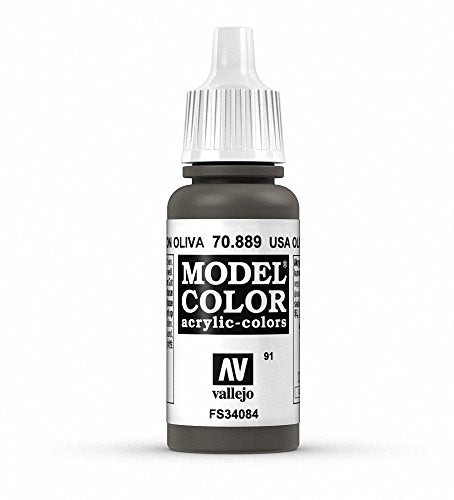 Vallejo Model Color Olive Brown Paint, 17ml