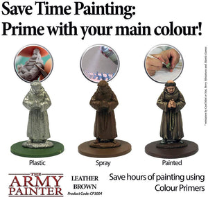 The Army Painter Primer Leather Brown 400ml Acrylic Spray for Miniature Painting